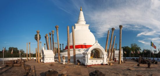 Panoramic view of Thuparama Dagoba in UNESCO, Anuradhapura, Sri Lanka, Asia