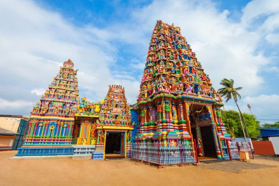 A Hindu temple dedicated to the goddess Bhadrakali, in Trincomalee.