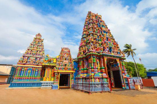 A Hindu temple dedicated to the goddess Bhadrakali, in Trincomalee.