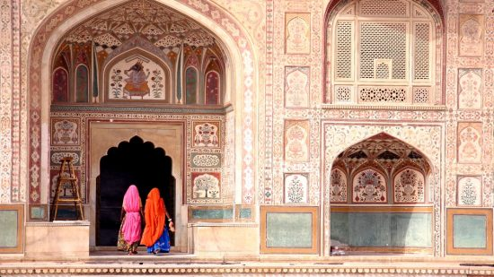 The magnificent Amber Fort in Jaipur, Rajasthan India